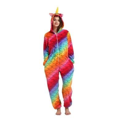 Cute Blue Unicorn - Animal Pajama Cosplay Unisex