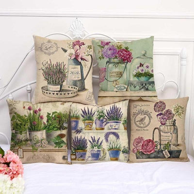 Green Herbs - Romantic Linen Pillowcase Collection