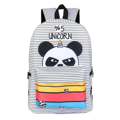 5% Unicorn Panda Pattern Backpack