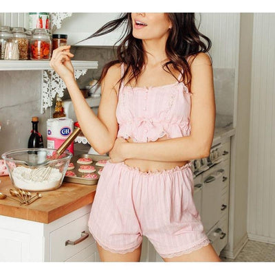 Romantic Rustic Lace Pajama Set