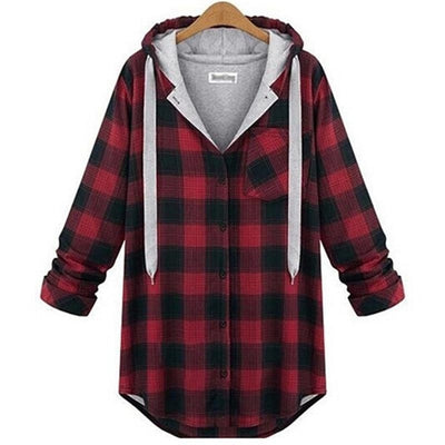 Plaid Long Sleeve Sweatshirt