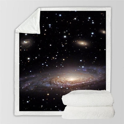Amazing Galaxy Beautiful Plush Blanket
