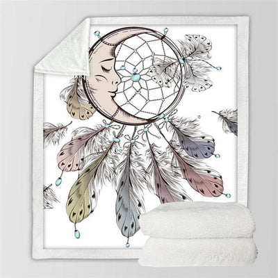 Moon Dreamcatcher Sherpa Soft Blanket