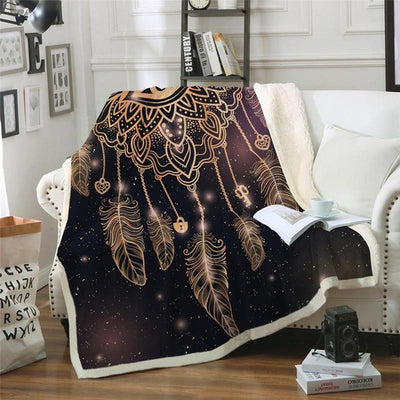Magic Dreamcatcher Boho Cozy Blanket