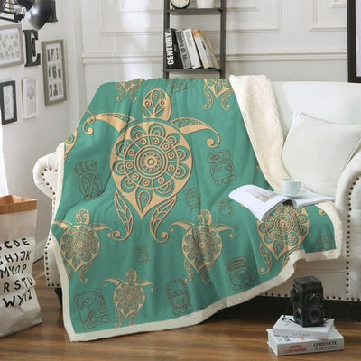 Magic Tortoise Beautiful  Soft Sherpa Blanket