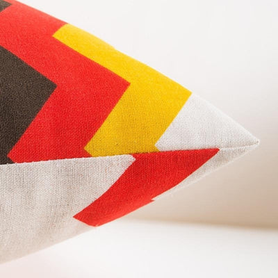 Beige - Colorful Geometry Cushion Cover Collection