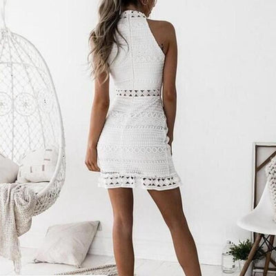 Lace Turtleneck Dress