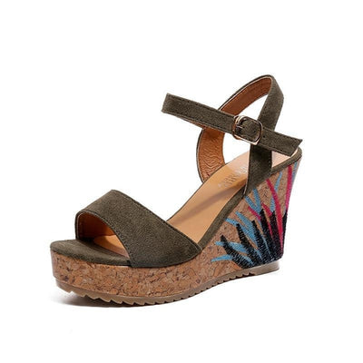 Fleur High Graffiti Sandals
