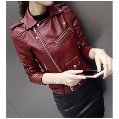 Faux Soft Leather Street Jacket