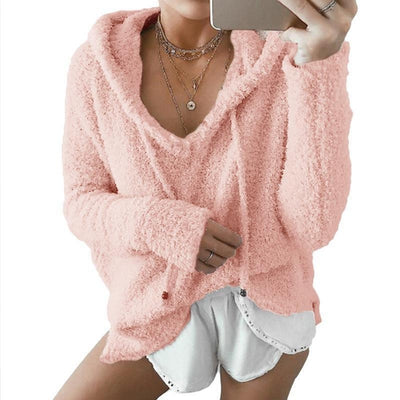 Fluffy Mohair Hoodie