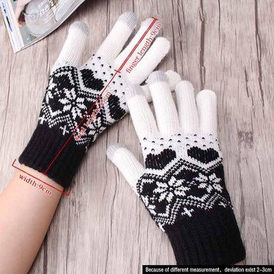 Padme Snow Knitted Gloves