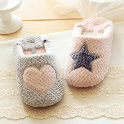 Heart or Star Warm Slippers