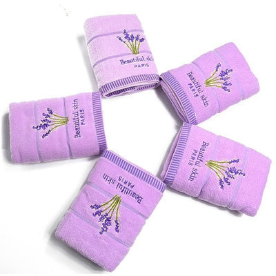 Lavender 5x Hand & Face Set - Herbs Towels Collection