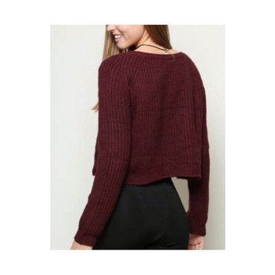 Red Wine Knitted Sweater
