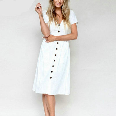Classic Pretty Midi Dress
