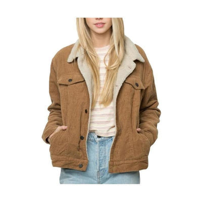 Casual  Corduroy  Brown Jacket