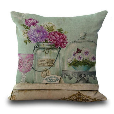 Peonies - Romantic Linen Pillowcase Collection