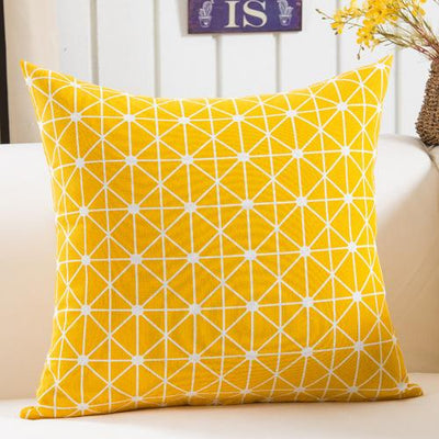 Yellow - Colorful Geometry Cushion Cover Collection