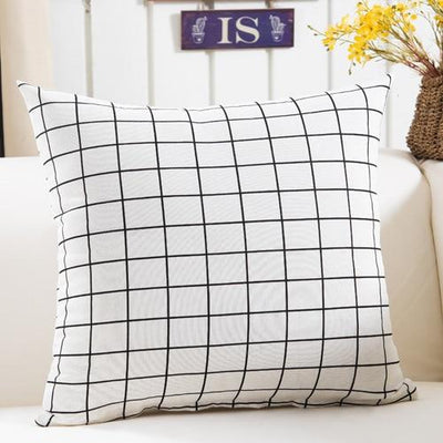 White Grille - Colorful Geometry Cushion Cover Collection