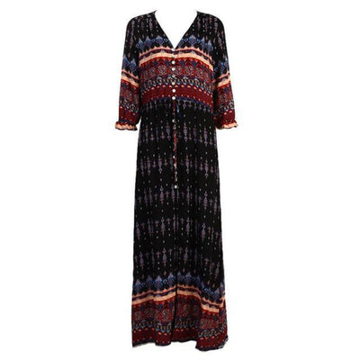 Lara - Ethnic Floral Boho Dress