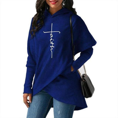 Plus Size Hooded Pullover
