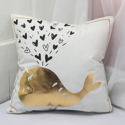 White And Gold Cushion Cover Collection