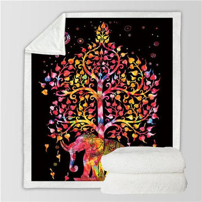 Tree of Life Sherpa Bohemian Blanket