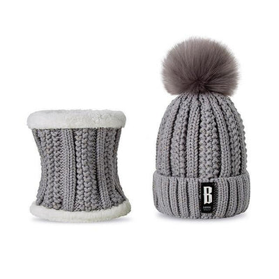 Knitted Beanie & Scarf Combo