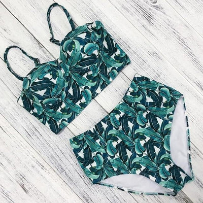 Hot Floral Push Up HW Bikini