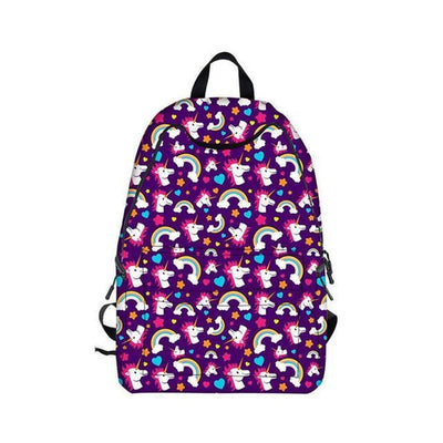 Rainbows Unicorn Pattern Backpack