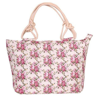 Rose Petals Canvas Handbag