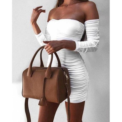 Artic Off Shoulder Slim Dress