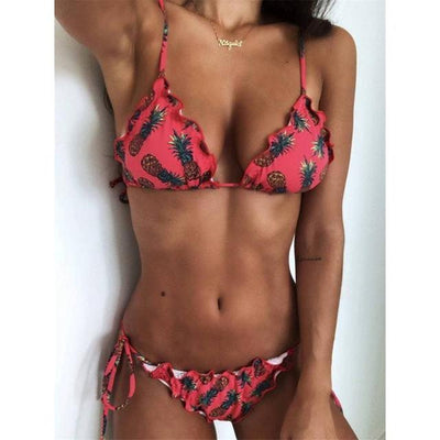 Casey Triangle Ruffled Bikini