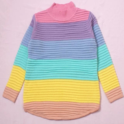 Sweet Sweater Rainbow Turtleneck