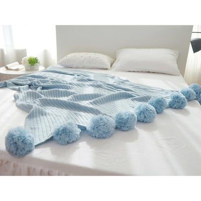 Goodfairy Knitted Blanket with Balls