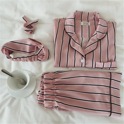 Classic Stripes Pink Pajama Set