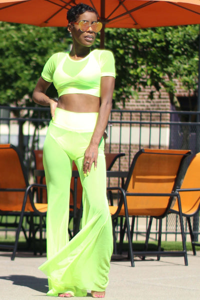 Mesh Bell Pants Cover Set