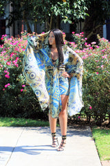Goddess Blue Wrap Cover Up