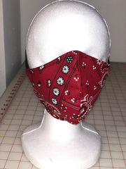 Unisex Mask Red Bandana