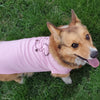 For Dogs - Hand Screen Printed Pink T-Shirt with Squirrel Artwork
