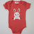 Hand Screen Printed Bunny Popping Out Baby Organic Onesie