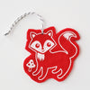 Ornament - Hand Screen Printed Wool Felt Fox Red