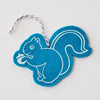 Ornament - Hand Screen Printed Wool Felt Squirrel Cyan