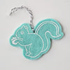 Ornament - Hand Screen Printed Wool Felt Squirrel Light Blue