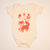 Hand Screen Printed Friendly Foxes Cream Baby Organic Onesie