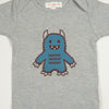 Hand Screen Printed Monster Rawrs Light Gray Heather Kids 18-24 Months T-Shirt