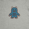 Hand Screen Printed Monster Rawrs Light Gray Heather Kids T-Shirt