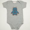 Hand Screen Printed Monster Rawrs Light Gray Heather Baby Onesie