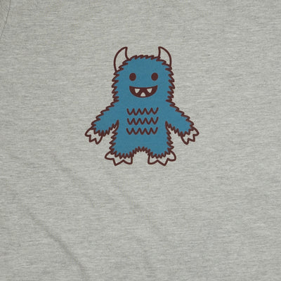 Hand Screen Printed Monster Rawrs Light Gray Heather Unisex/Mens T-Shirt