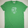 Hand Screen Printed Love Montana Green Unisex/Mens T-Shirt
